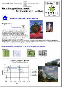 Entwicklung textiler Flächengebilde für die Abschattung im Exterieureinsatz