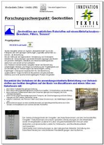 Geotextilien aus natürlichen Rohstoffen mit einem Mehrfachnutzen – Bewehren, Filtern und Trennen