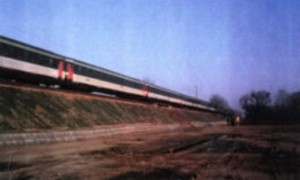 Mit unserem OBEG bewehrter und fertiggestellter Bahndamm (Strecke Dresden - Leipzig)