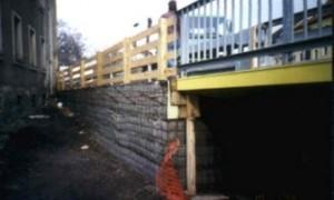 Mit unserem OBEG bewehrte Behelfsbrücke