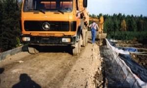 Bau einer Deponie mit unseren Geotextilien