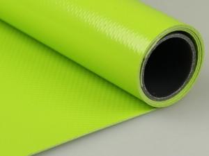 Dekofolie aus Kunststoff in gelbgrün