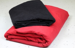 Molton in schwarz und rot